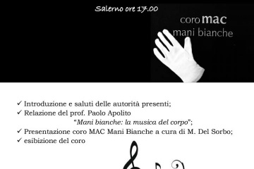 locandina evento coro MAc mani bianche
