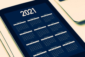 calendario 2021 sul tablet