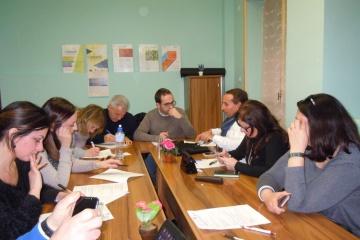 Foto da un laboratorio condotto in Fondazione