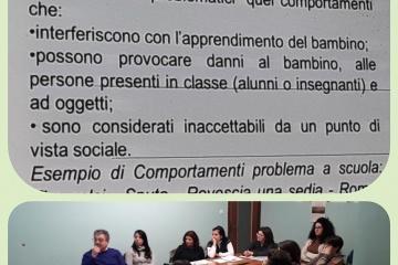 partecipanti attenti al corso in Fondazione - stralci della presentazione
